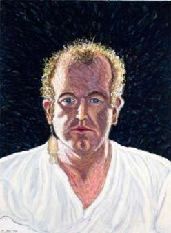 Self-portrait; 1998; 22 x 30 inches; oil stick