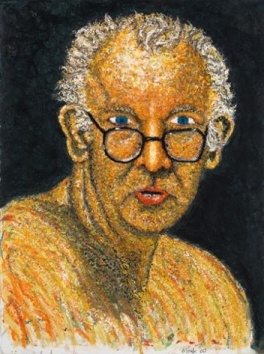 Self-portrait; 2001; 22 x 30 inches ; oil stick