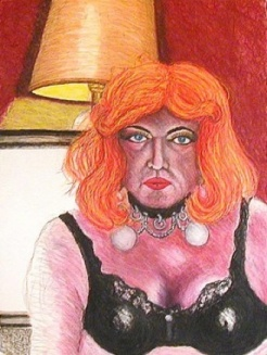 Carlton as Carlotta; 1996; 22 x 30 inches;