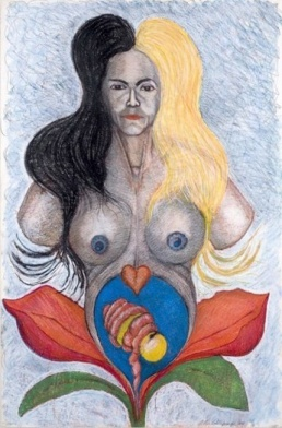 Kali Mother; 1981; 25 x 35 inches; pastel
