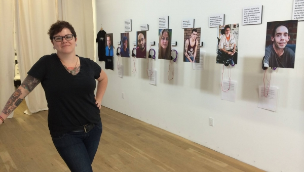 Dese'Rae Stage's Exhibition of photographs and recordings of suicide survivors
